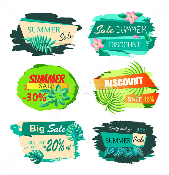 Collection Discount Emblems Off Summer Sale Advert Stock photo © robuart