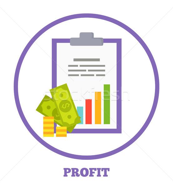 Nyereség logotípus diagram pénz jövedelmező üzlet Stock fotó © robuart
