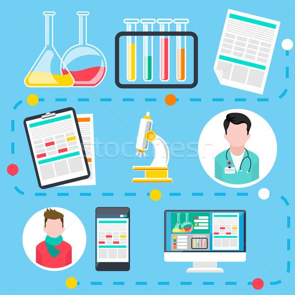 Online medical consultation and diagnosis Stock photo © robuart