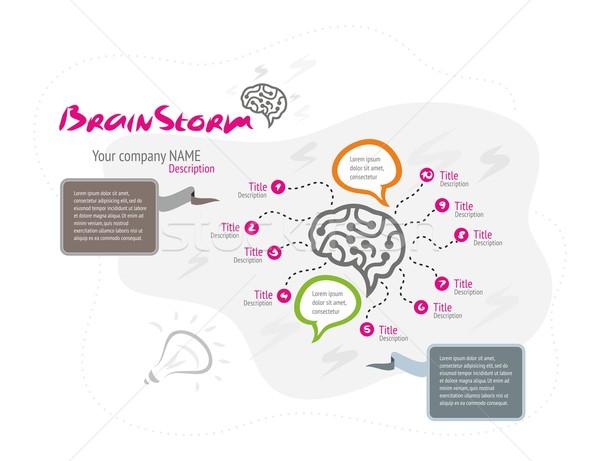 Creative brain idea concept background Stock photo © robuart