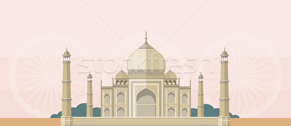The Taj Mahal Flat Image Stock photo © robuart
