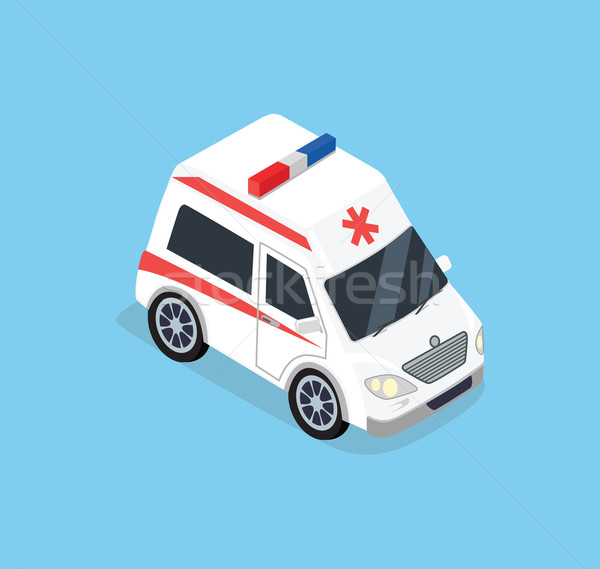 Isométrique ambulance voiture 3D haut vue Photo stock © robuart