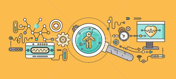 Concept study of human medicine Stock photo © robuart