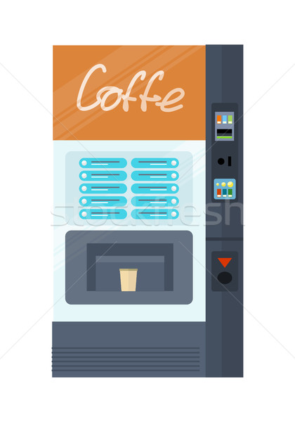 Vending Machine for Coffe. Office Interior. Stock photo © robuart