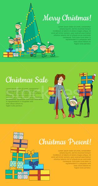 Сток-фото: набор · Рождества · дизайна · вектора · веб · Баннеры