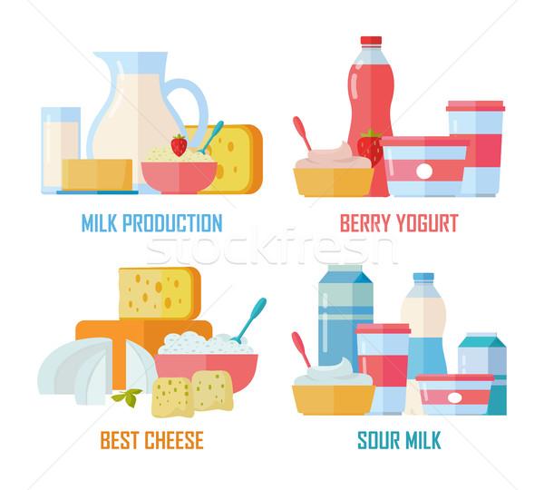 Tradycyjny mleka inny biały produkcji Zdjęcia stock © robuart