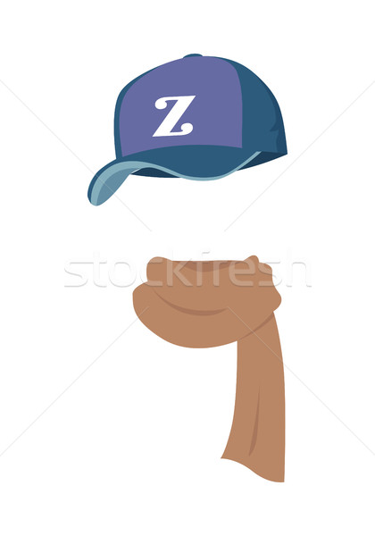 Hat. Contemporary Sport Violet Cap with Z Letter Stock photo © robuart