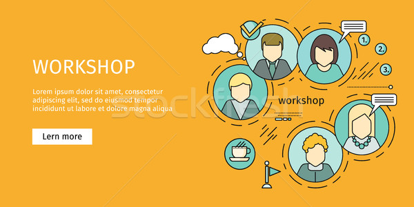 Business Workshop Banner. Stock photo © robuart