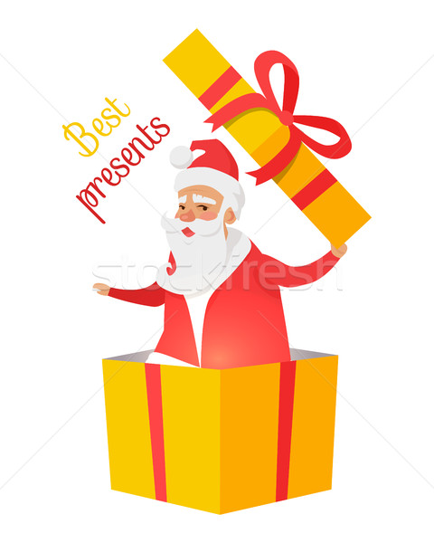 Best Presents from Santa Claus on White Background Stock photo © robuart
