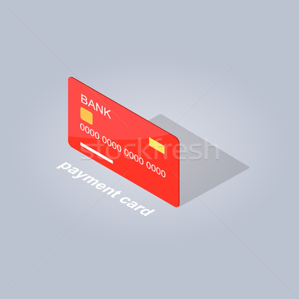 Plastic Detailed Payment Card Cartoon Style Flat Stock photo © robuart
