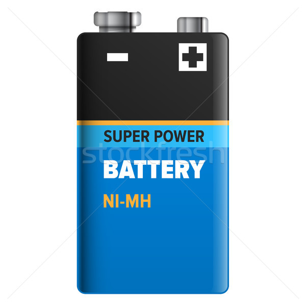 Super Power Battery Isolated on White. Vector Stock photo © robuart