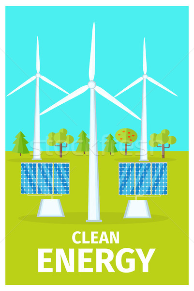Promotional Poster Dedicated to Clean Energy Use Stock photo © robuart