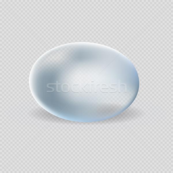 水 滴 白 青 ストックフォト © robuart