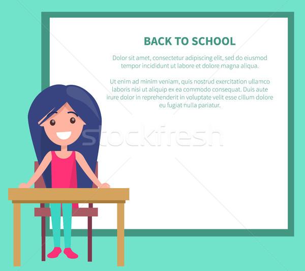 Back to School Vector Illustration with Schoolgirl Stock photo © robuart
