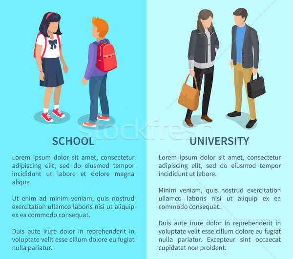 School and University Posters with Inscriptions Stock photo © robuart