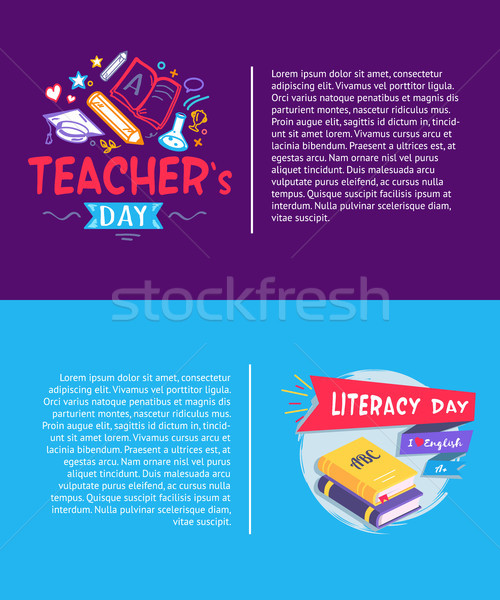 Teachers Day and Literacy Day Vector Illustration Stock photo © robuart