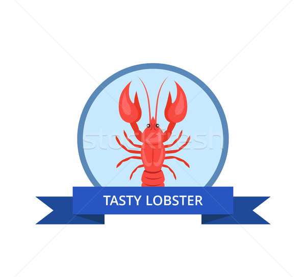 Tasty Lobster Logo with Crayfish Vector Isolated Stock photo © robuart