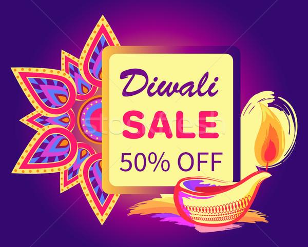 Diwali verkoop 50 af teken feestelijk Stockfoto © robuart