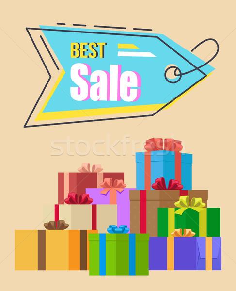 лучший продажи поощрения тег ярко синий Сток-фото © robuart