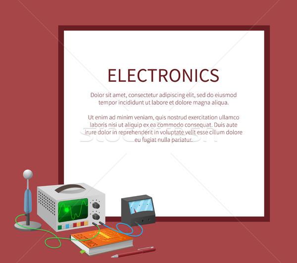 Elektronika szalag hely szöveg keret tankönyv Stock fotó © robuart
