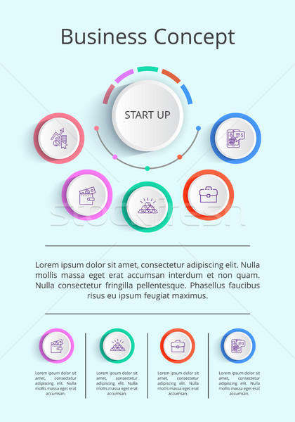 Business Concept Infographic Vector Illustration Stock photo © robuart
