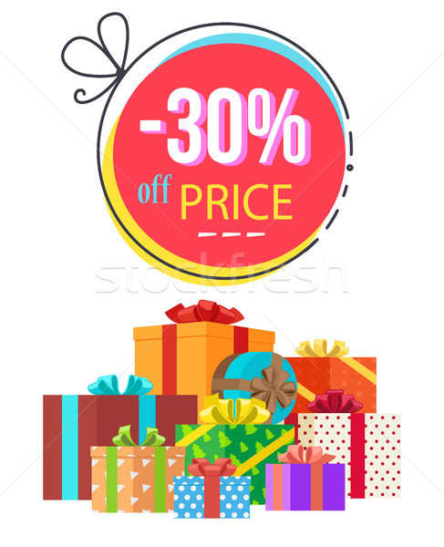 -30 Off Price Discount Vector Illustration Stock photo © robuart