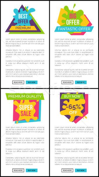 Establecer precio mejor prima fantástico Foto stock © robuart