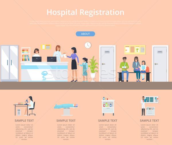 Hospital Registration Desk Vector Illustration Stock photo © robuart