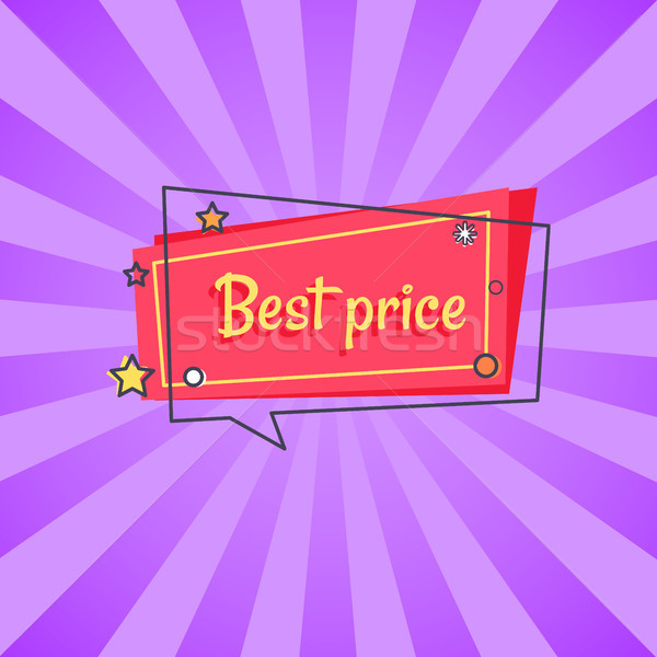 Best Price Proposal Banner in Square Speech Bubble Stock photo © robuart
