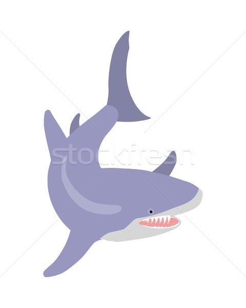 ストックフォト: 白 · サメ · 漫画 · オープン