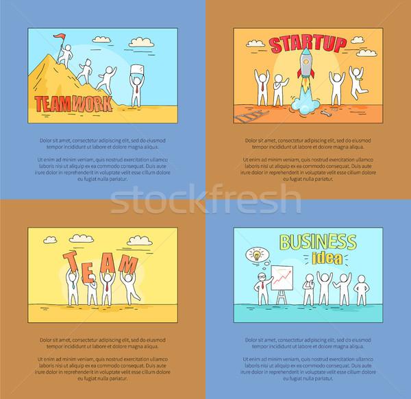 Csapatmunka startup üzlet ötlet csapat képek Stock fotó © robuart