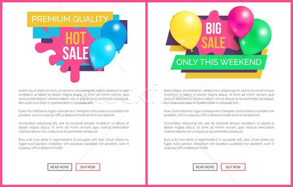Prêmio qualidade venda preço promo adesivo Foto stock © robuart