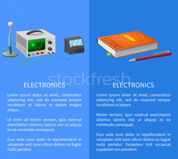 Electronics Banner with Place for Text on Blue Stock photo © robuart