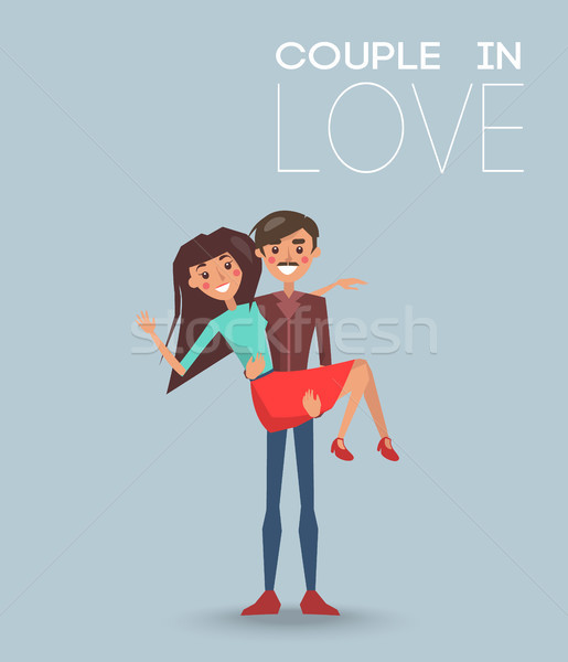Couple Love Dating Boyfriend and Girlfriend Vector Stock photo © robuart