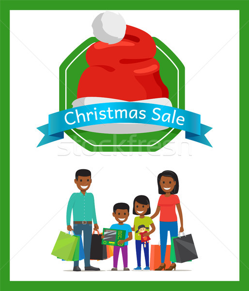 Christmas Sale Promo Card Vector Illustration Stock photo © robuart