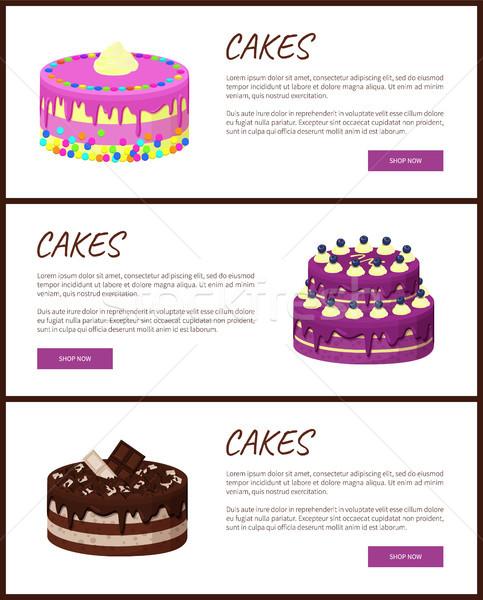 торты разнообразие страница онлайн магазин Сток-фото © robuart