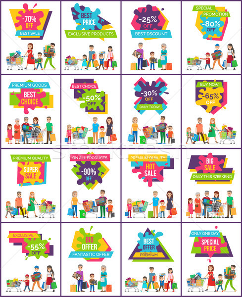 -70 Off Best Sale Posters Vector Illustration Stock photo © robuart