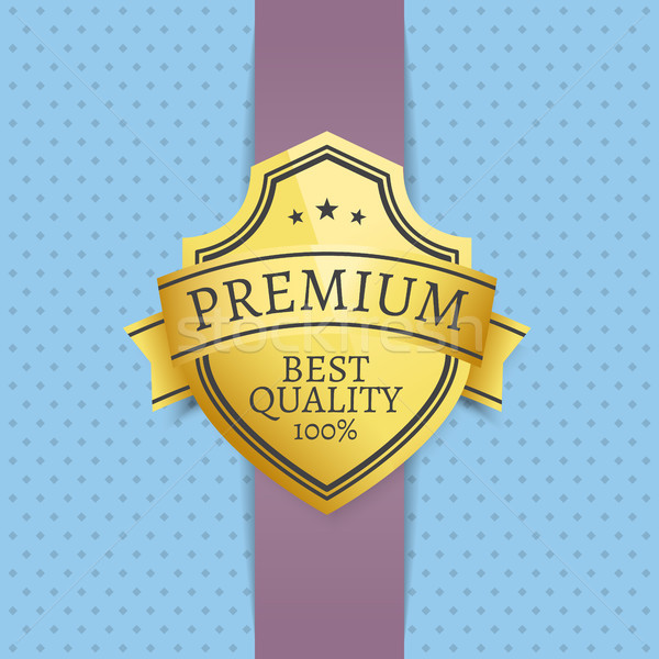 Premium Best Quality Golden Seal Exclusive Label Stock photo © robuart