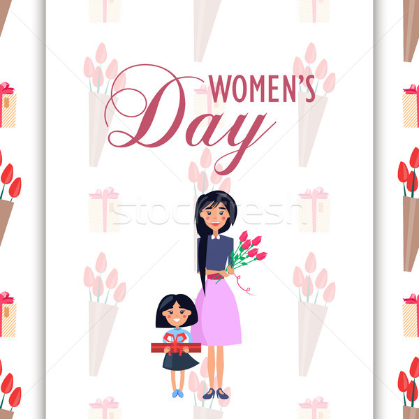 Mother and Daughter with Presents on Womens Day Stock photo © robuart