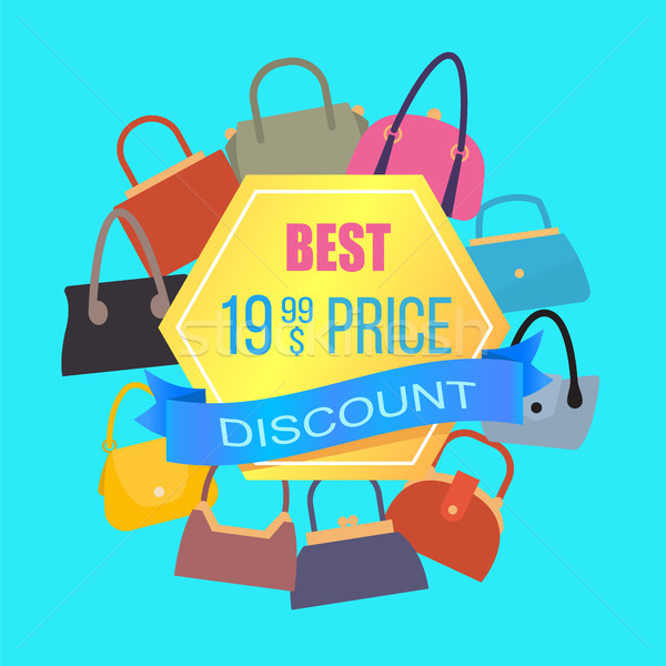 Best Price Discount Sale, Color Advertising Banner Stock photo © robuart