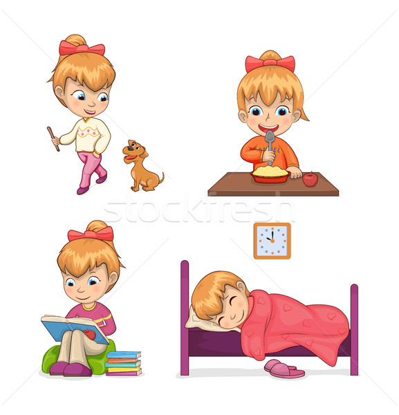Child Collection of Activities Vector Illustration Stock photo © robuart