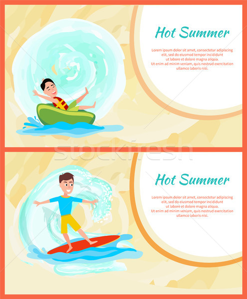 Hot Summer Colorful Image, Water Sports Activity Stock photo © robuart