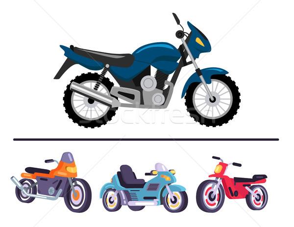 Esportes motocicletas brilhante polido conjunto rápido Foto stock © robuart