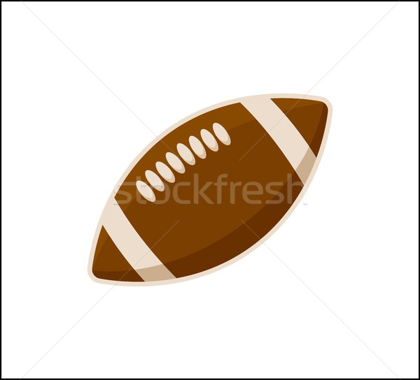 American Football Ball Icon Isolated on White Stock photo © robuart