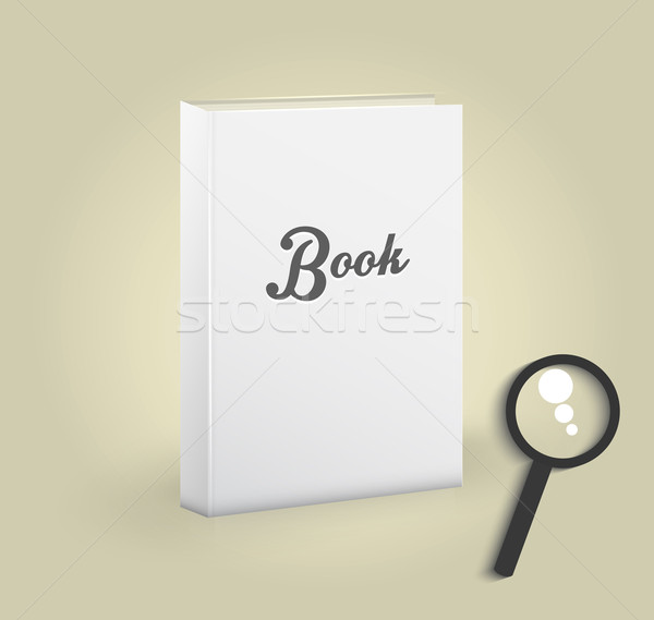Front view of blank book Stock photo © robuart