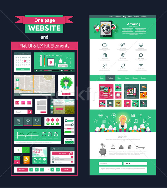 Website page template. Web design Stock photo © robuart