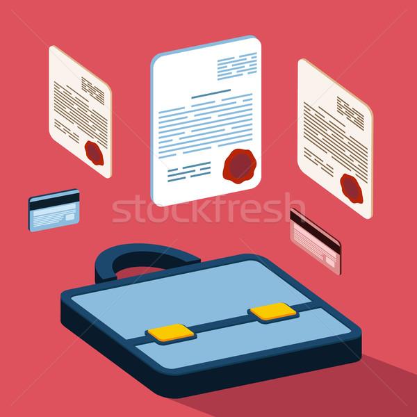 Business 3d documents concept Stock photo © robuart