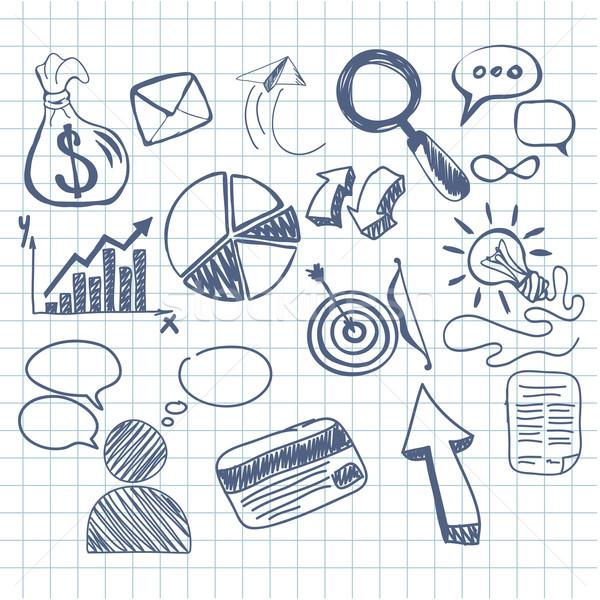 Zestaw gryzmolić działalności zarządzania infografiki elementy Zdjęcia stock © robuart