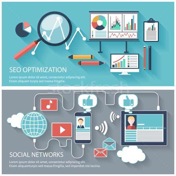 ストックフォト: Seo · 最適化 · 社会的ネットワーク · プログラミング · プロセス · ウェブ