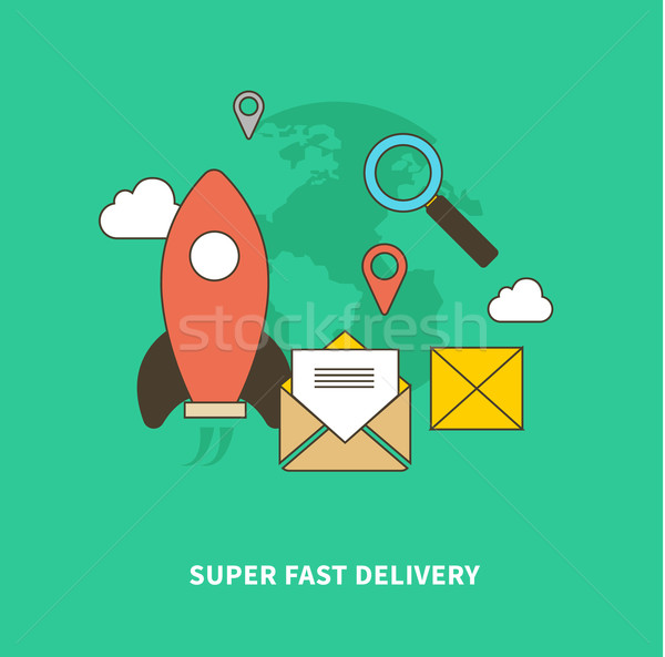 Concept of Super Fast Delivery Stock photo © robuart
